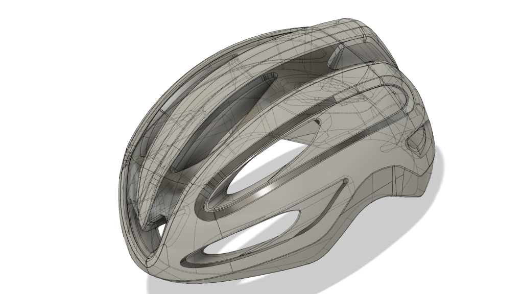 CAD model of a helmet