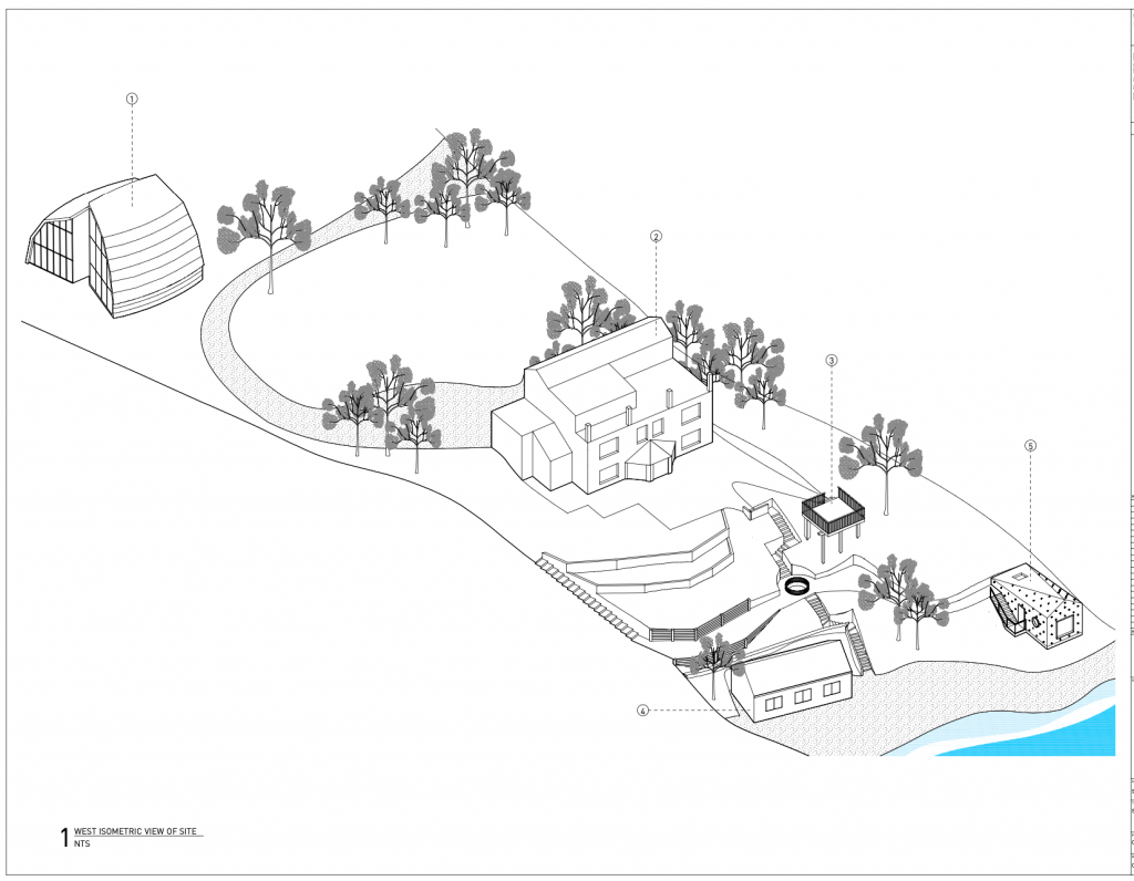 Site Plan of pottering shed